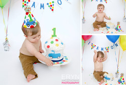 Blue Truck Birthday Cake Smash
