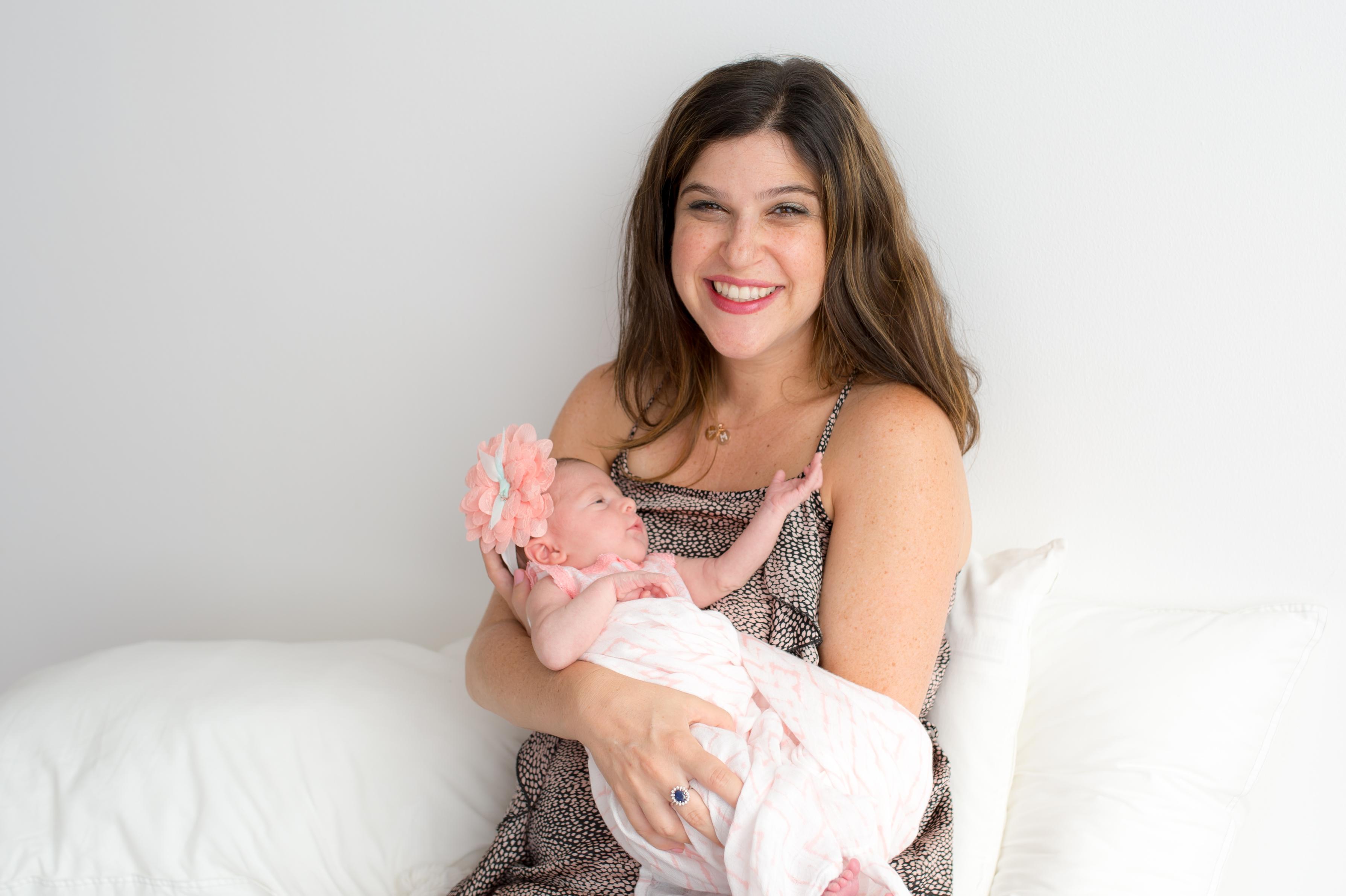 newborn girl mom