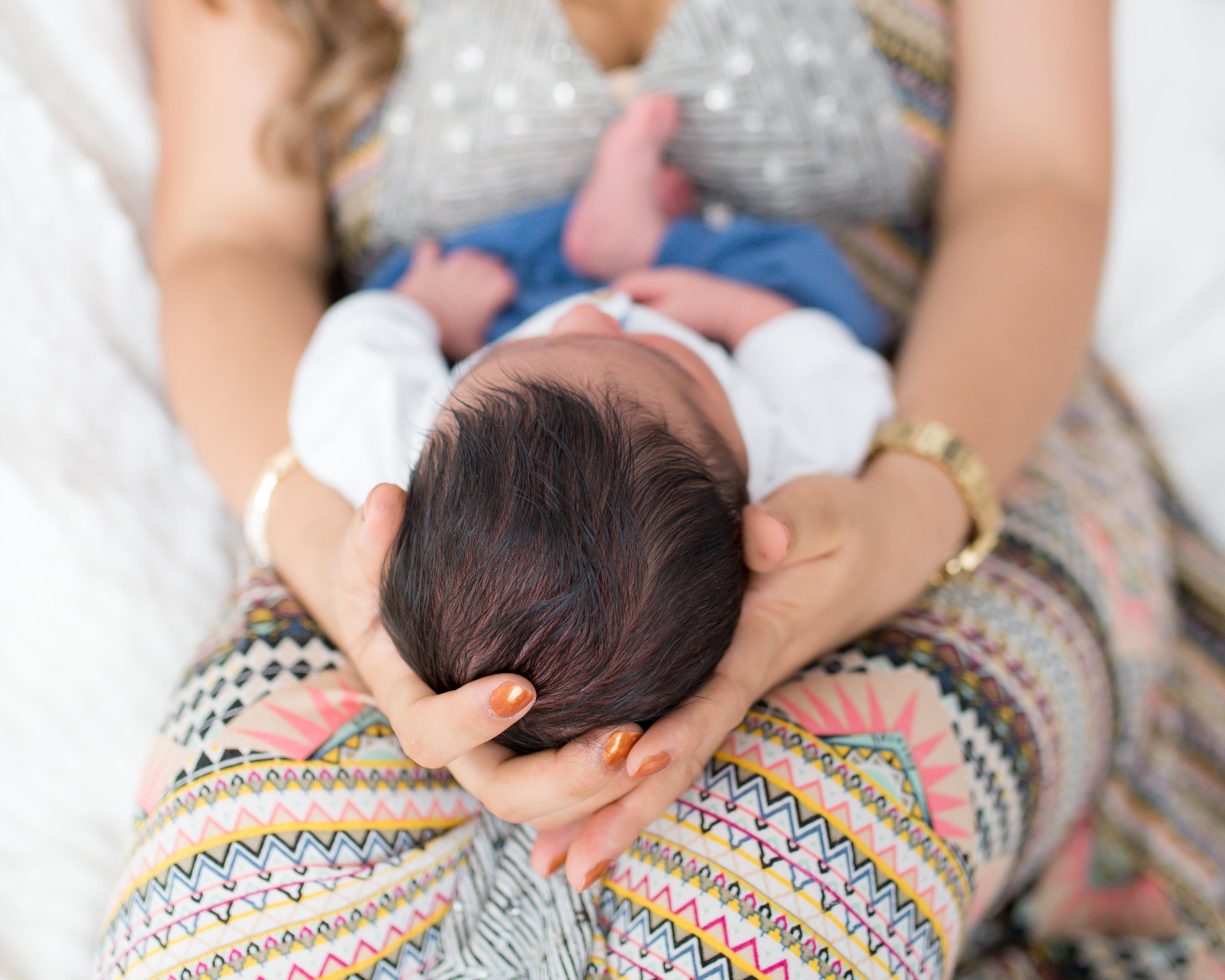 newborn boy head