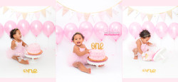 Pink Balloons Cake Smash