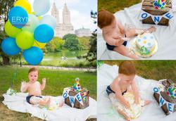 Central Park Cake Smash Boy