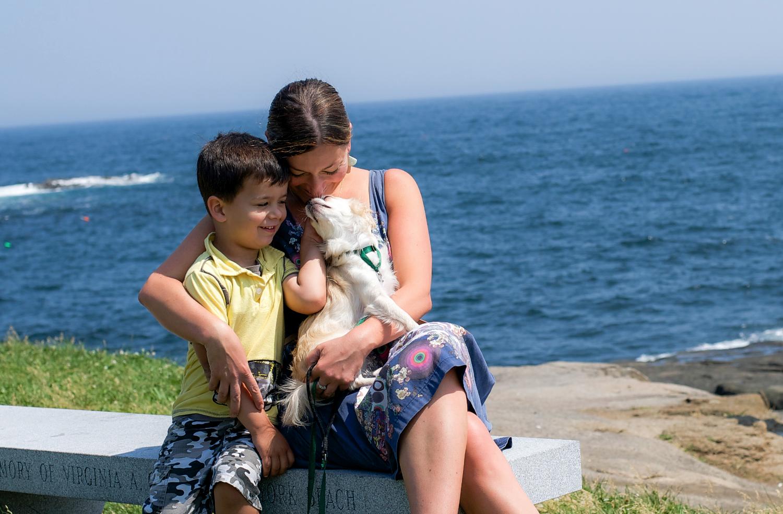 ocean family pet portrait