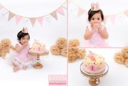 Pink and Cream Cake Smash