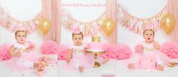 Pink & Gold Princess Cake Smash