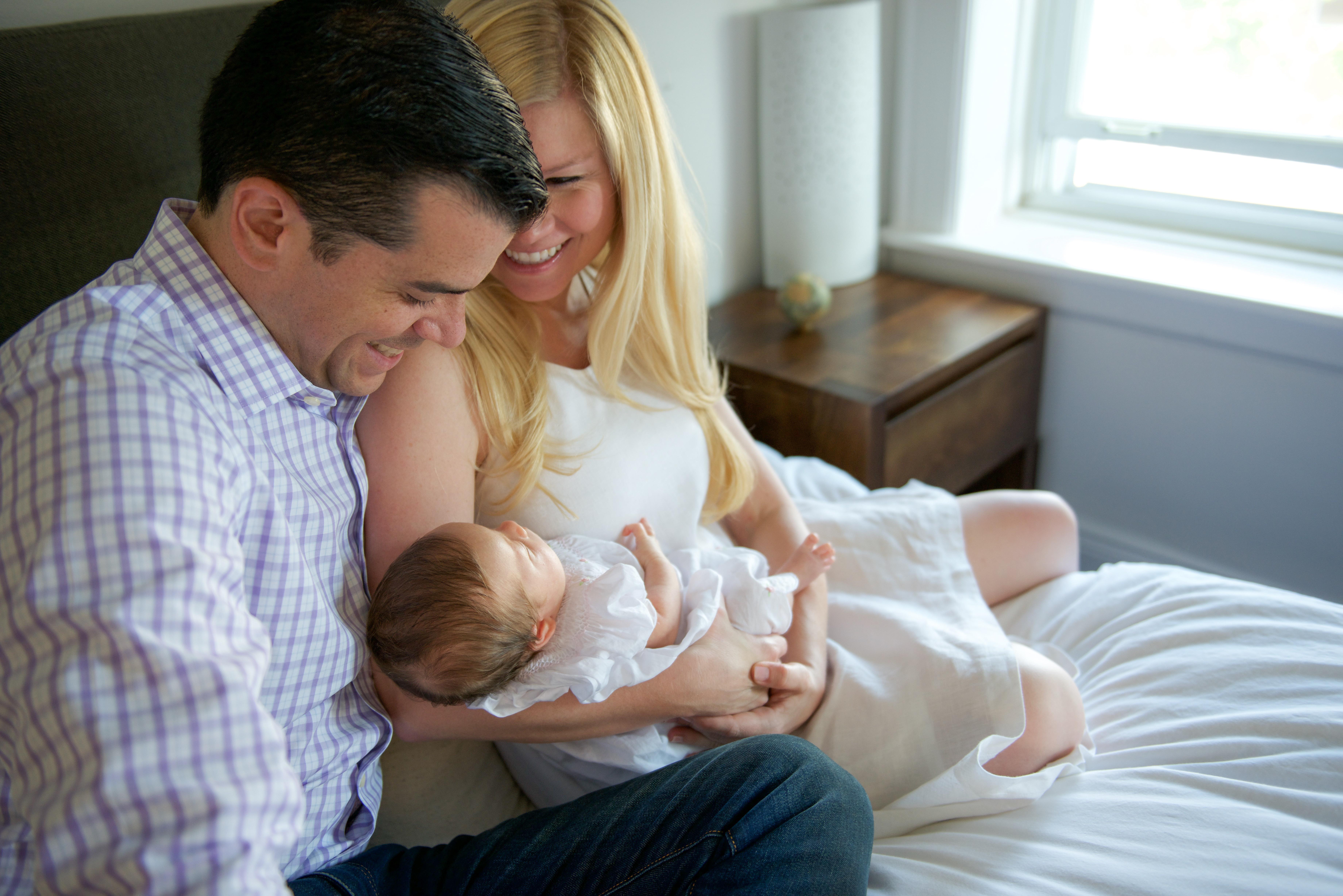 newborn family home