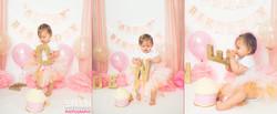 ONE Pink & Gold Cake Smash