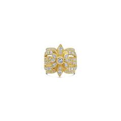 18ct yellow gold diamond dress ring.