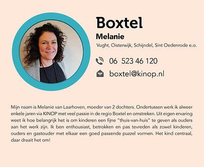 Melanie van Laarhoven bemidelingsmedewerker gastouderbureau KINOP in Boxtel