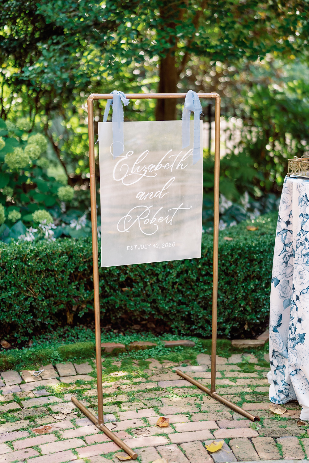 SoHo Event Design wedding planner Duke Mansion wedding custom signage