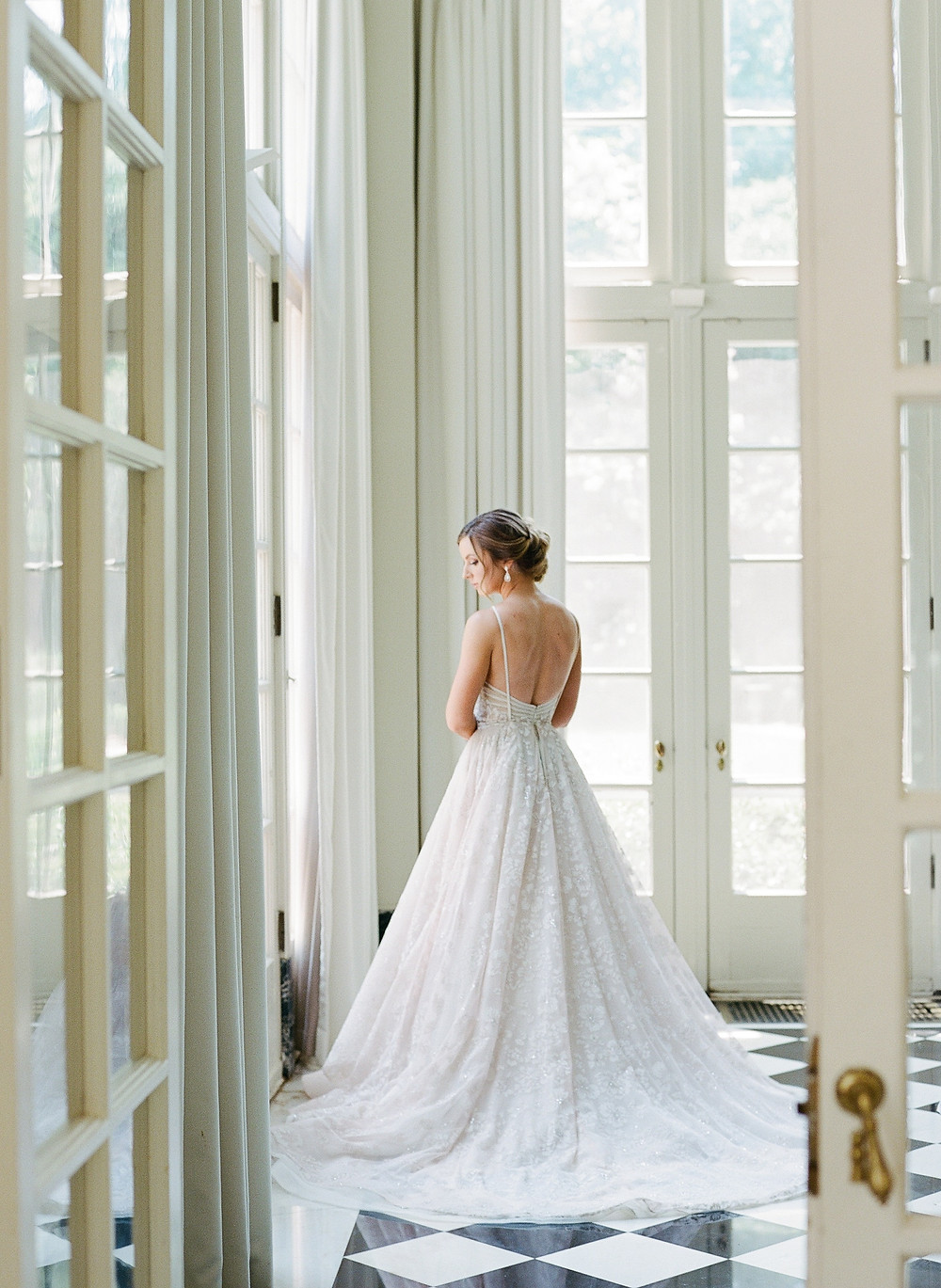 SoHo Event Design wedding planner Duke Mansion wedding couture bridal gown north carolina wedding planner