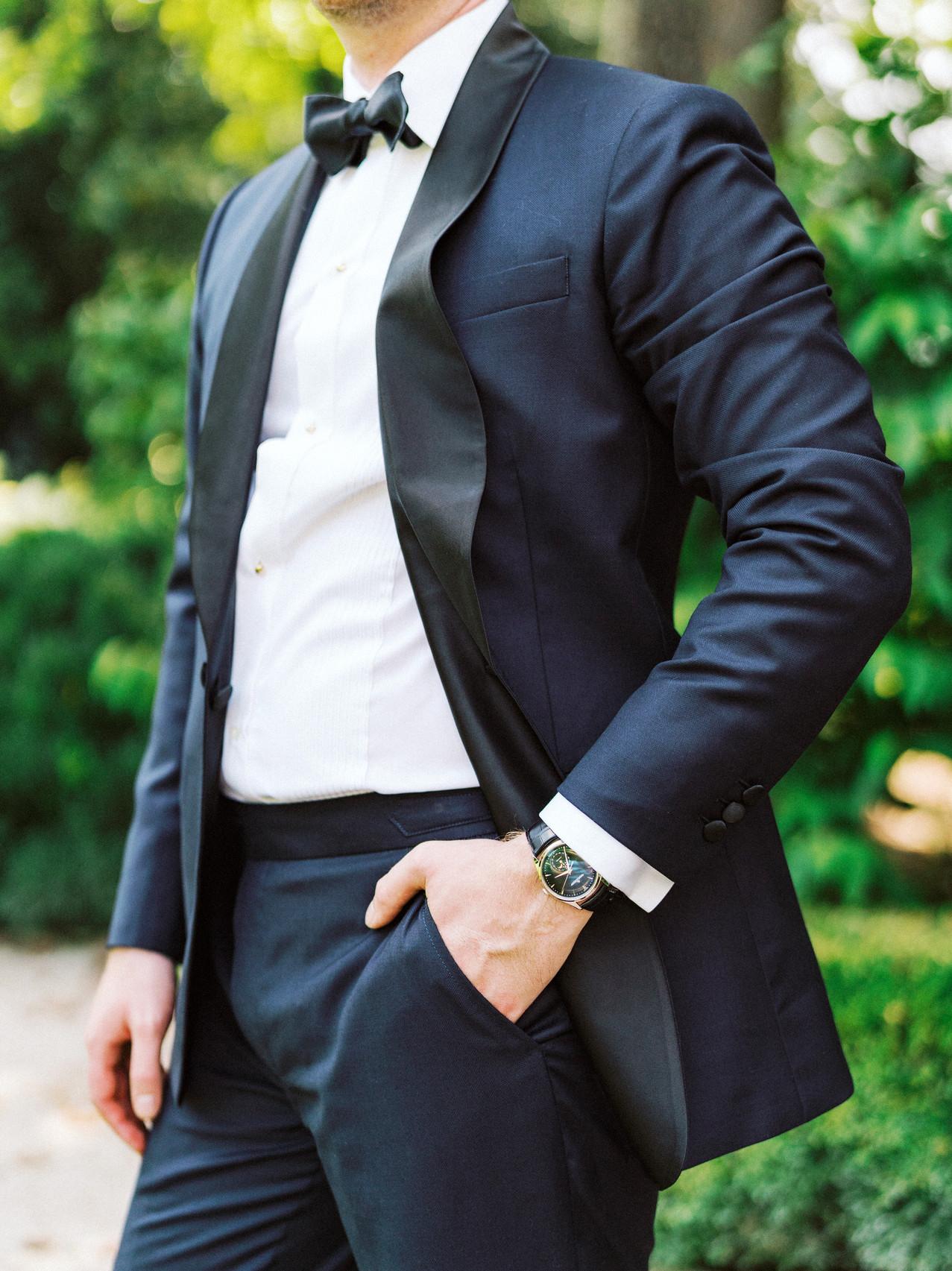 SoHo Event Design wedding planner Duke Mansion wedding custom tuxedo north carolina wedding planner
