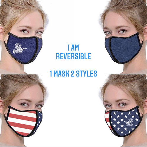 Reversible 2 Pack Washable/ Reusable Face Mask