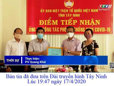 Đoàn luật sư Tây Ninh đóng góp quỹ chung tay phòng chống dịch Covid 19