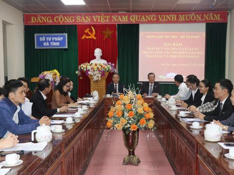 Đoàn Luật sư tỉnh Hà Tinh tọa đàm: Phát huy vai trò của luật sư trong hoạt động phổ biến pháp luật