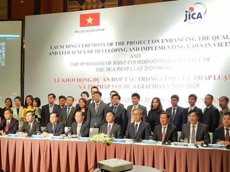 Lễ khởi động Dự án hợp tác trong lĩnh vực pháp luật và tư pháp với JICA giai đoạn 2021-2025