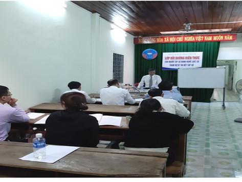 Bồi dưỡng kiến thức pháp luật cho người tập sự hành nghề luật sư của đoàn luật sư tỉnh Đắk Lắk