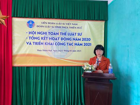 Đoàn luật sư tỉnh Thừa Thiên Huế tổng kết hoạt động năm 2020 và triển khai công tác năm 2021