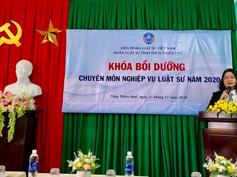 Khóa bồi dưỡng chuyên môn nghiệp vụ của Đoàn luật sư tỉnh Thừa Thiên Huế năm 2020