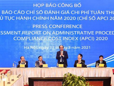 Văn phòng Chính phủ công bố Chỉ số đánh giá chi phí tuân thủ thủ tục hành chính năm 2020