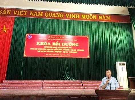 Đoàn Luật sư tỉnh Lạng Sơn tổ chức lớp bồi dưỡng chuyên môn nghiệp vụ