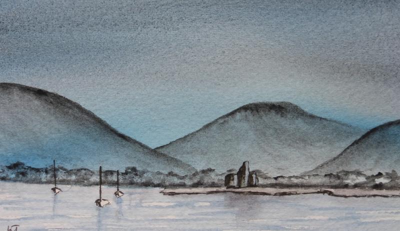 Lochranza  Isle of Arran in watercoloir.JPG