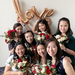 floral hens' party