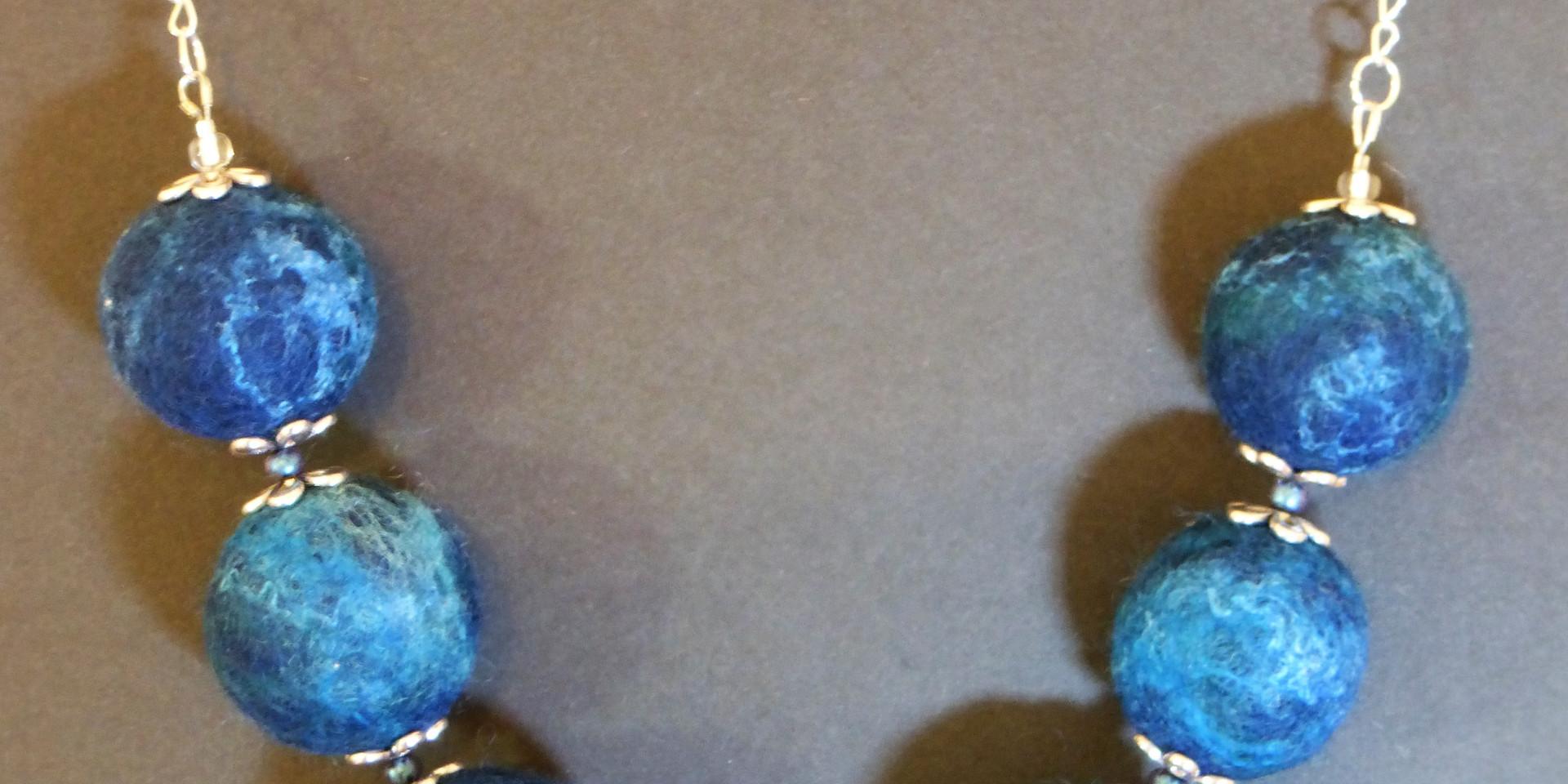 Lamlash Bay felt beads