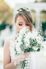 Fresh Floral Tiara & Bouquet Set