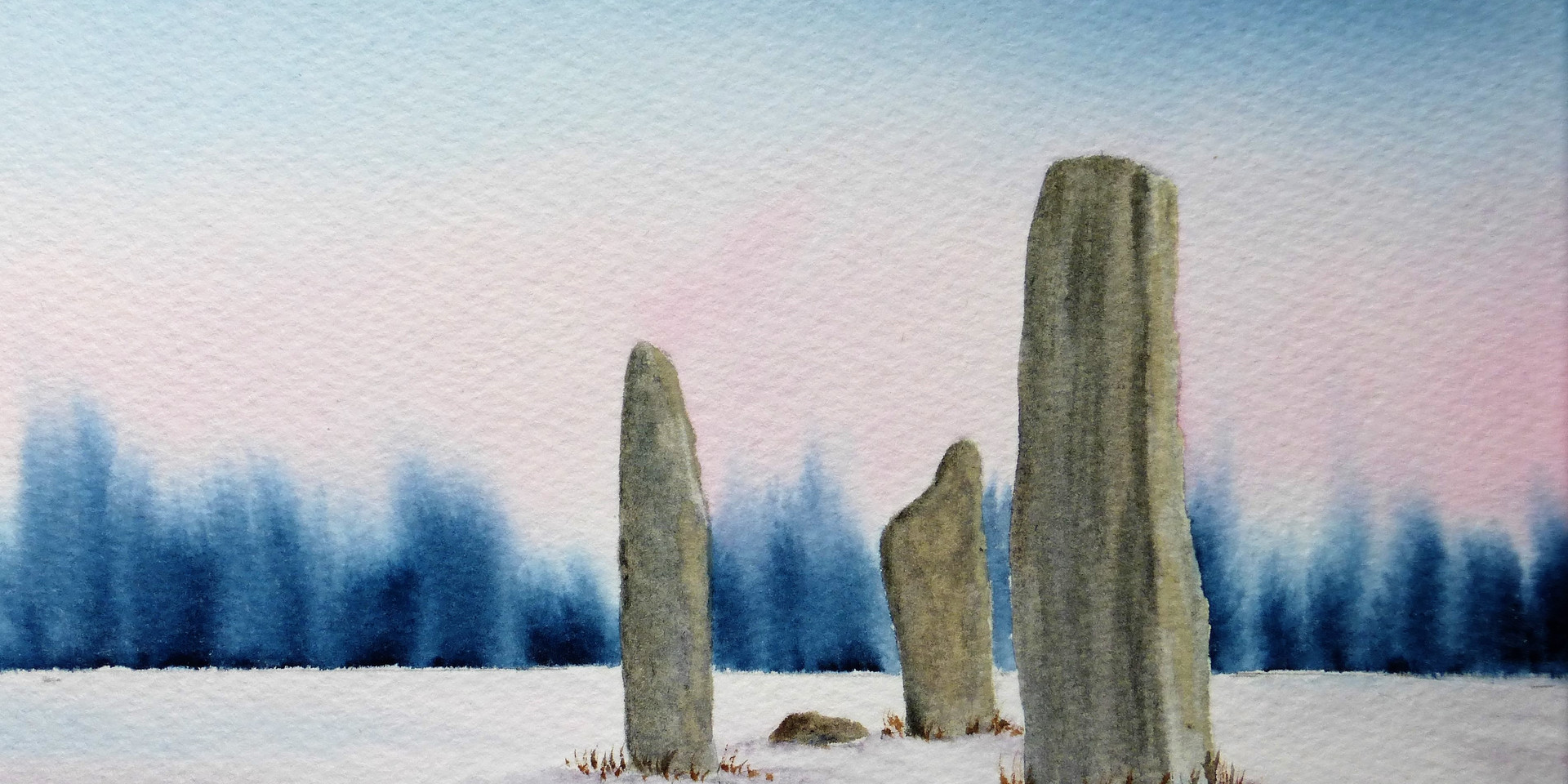 Machrie Standing Stones Winter