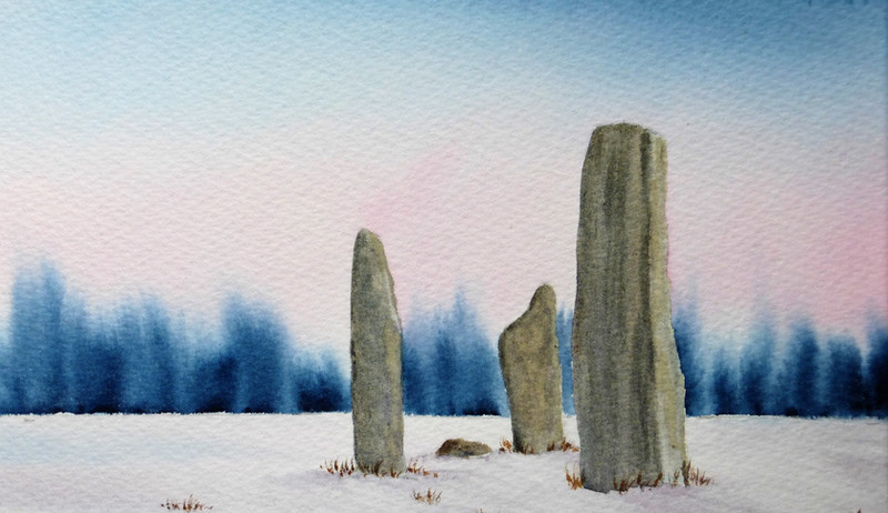 Machrie Standing Stones Winter