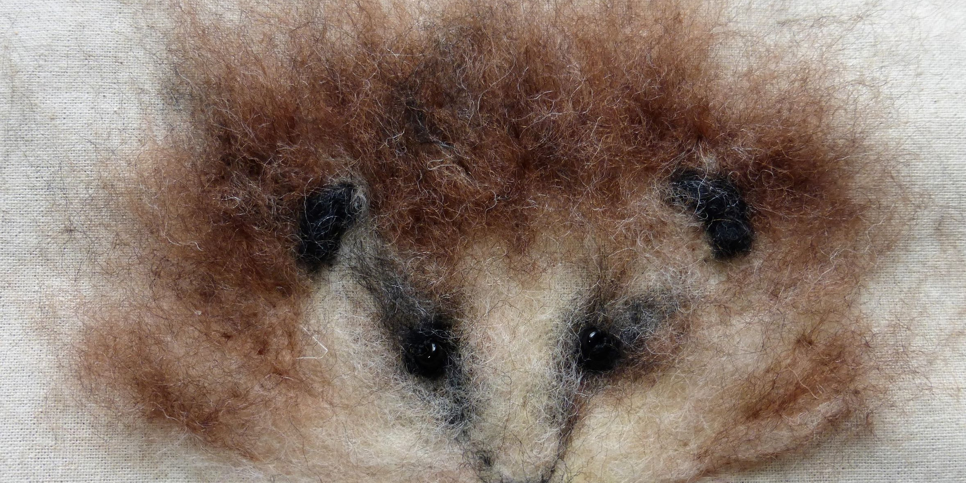hedgehog in felt