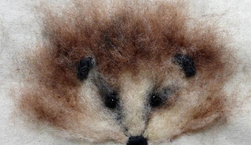 hedgehog in felt