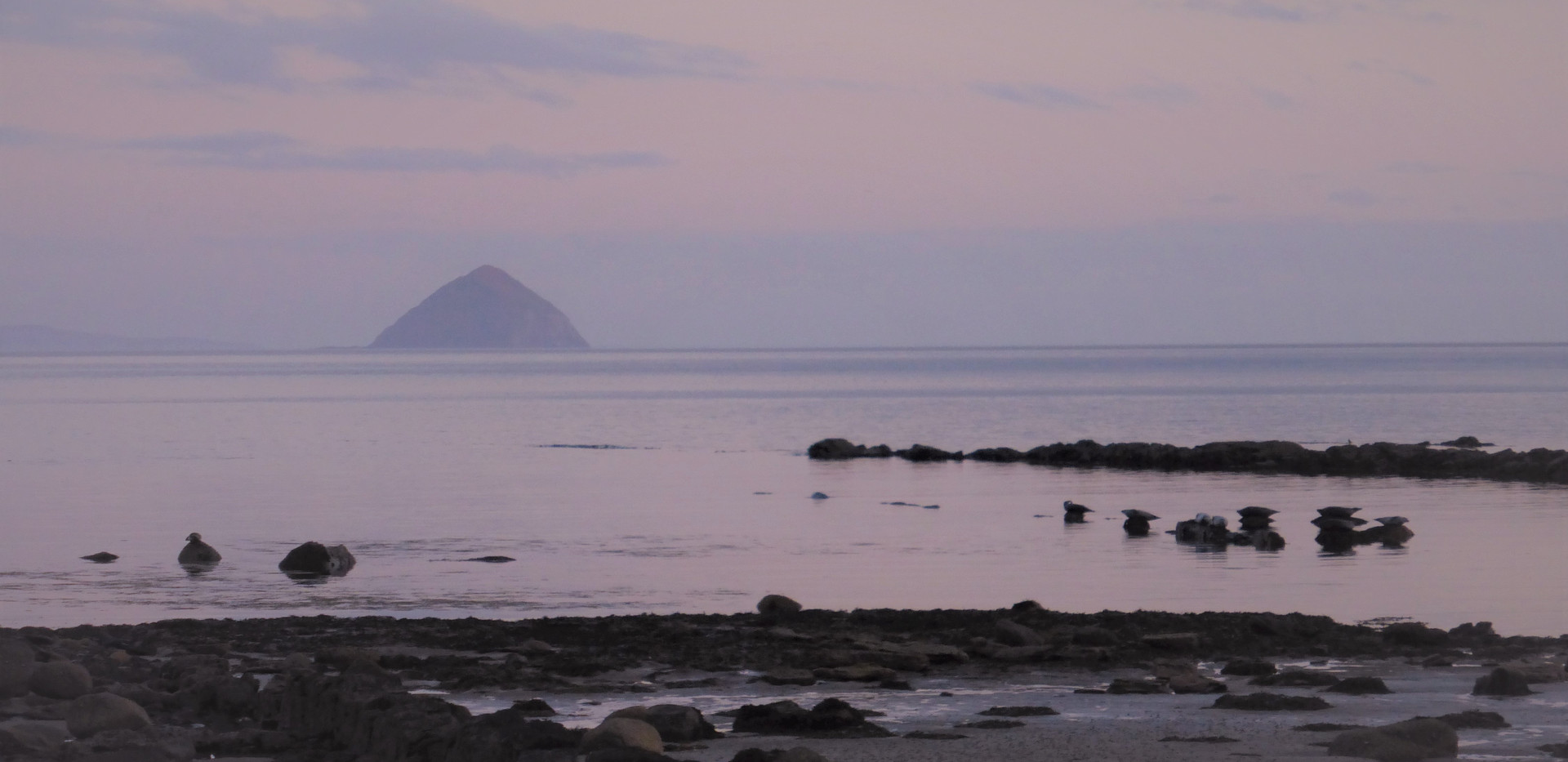Ailsa Craig at Sunset from Isle of Arran
