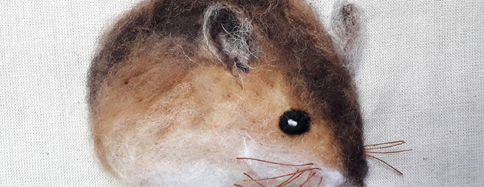 mouse in felt