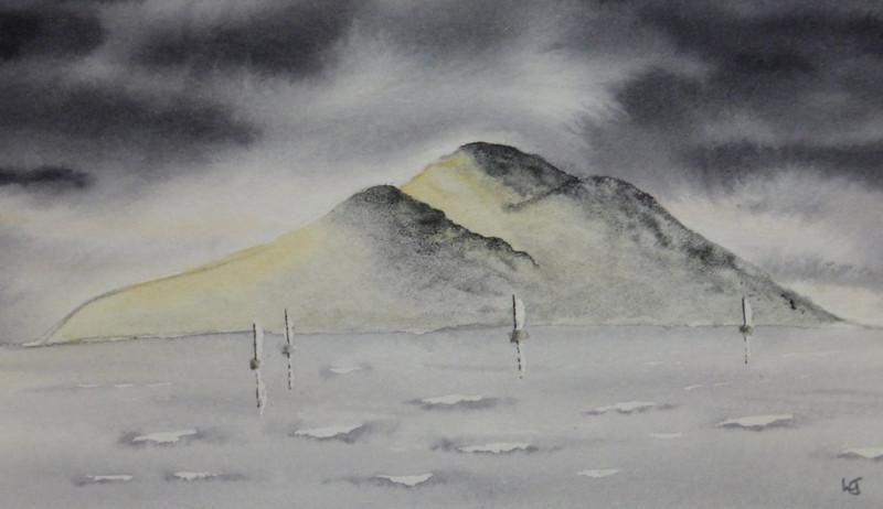 Stormy holy isle