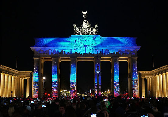 Projection Mapping on Brandenburg Gate