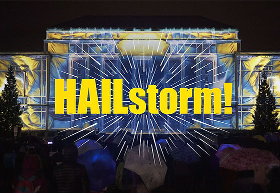 HAILstorm! - Projection Mapping on Rackham Building