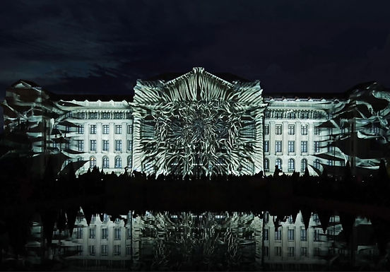 Projection Mapping on the University of Debrecen