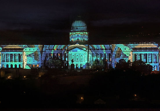 FINA Budapest 2017 World Championship Opening Ceremony Projection Mapping on Buda Castle