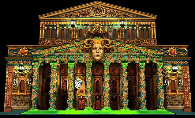 Projection Mapping on Bolshoi Theatre