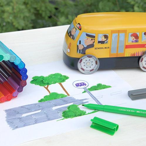 Stiften in cadeauverpakking bus