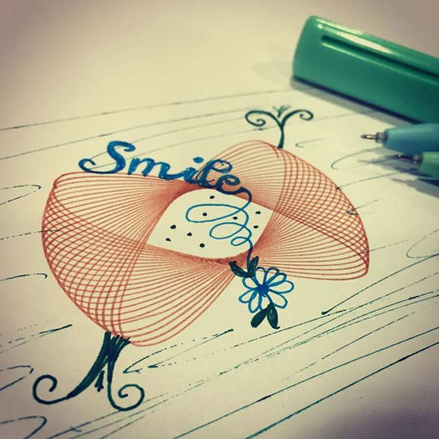 When handlettering meets the spirograph