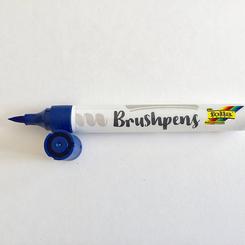 Brushstift blauw Folia