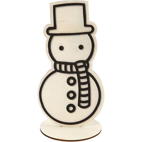 Staande sneeuwman