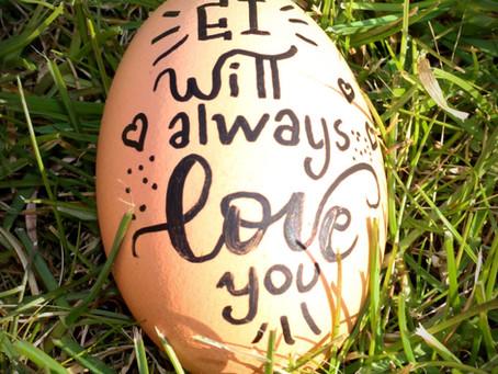 Wat zou jij op een ei schrijven?