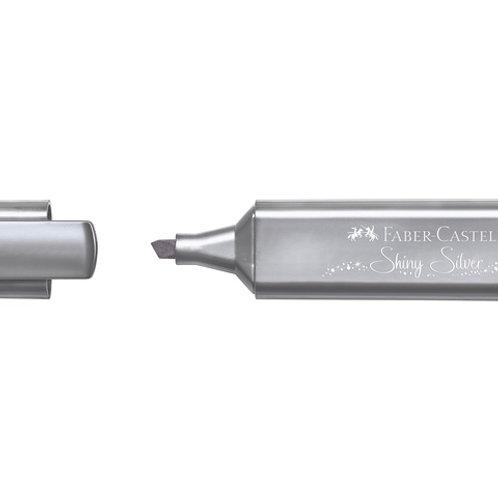 Tekstmarker zilver Faber Castell
