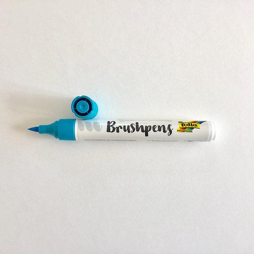 Brushstift lichtblauw Folia