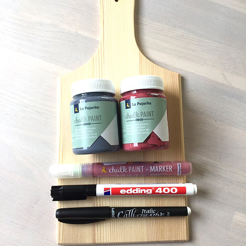Handletterpakket op hout 2