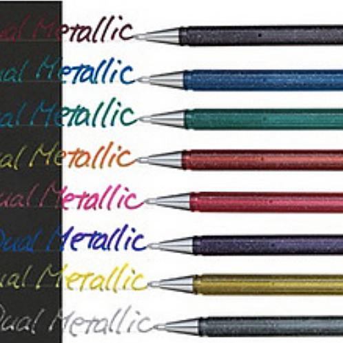Glitter pen Hybrid dual  paars/blauw