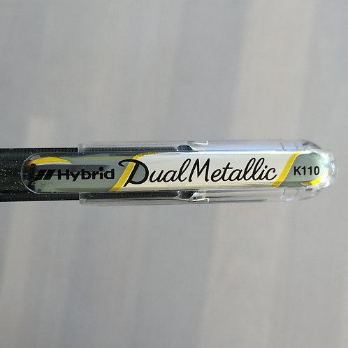Glitter pen Hybrid dual  zilver